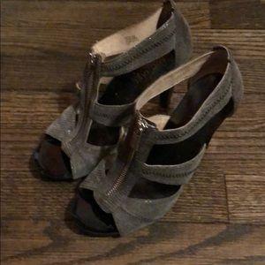 Michael Kors grey zip heels